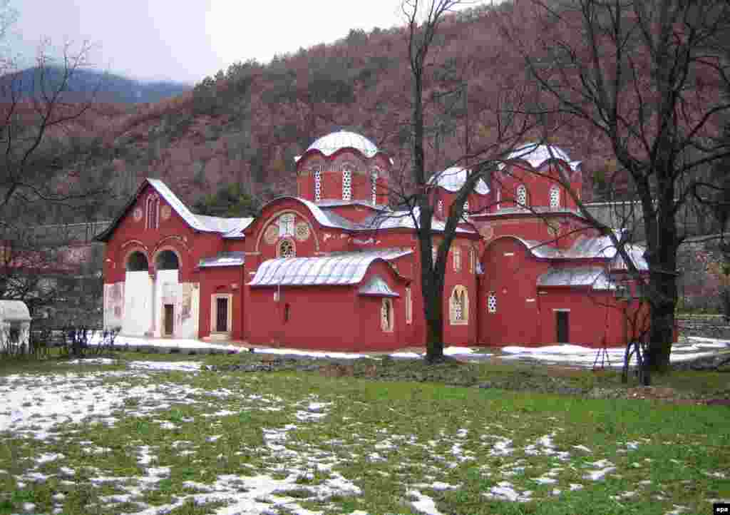 The Serbian Orthodox monastery in the town of Peć