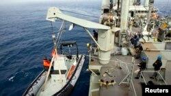 Поиски пропавшего лайнера в Индийском океане.