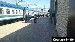 Железнодорожный вокзал Ташкента.