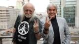 Художник-карикатурист Алексей Меринов и журналист Леонид Велехов