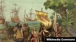 Колумб Христофор Тобаго гIайренехь. Иллюстраци.