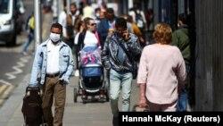 Люди на улице в Лондоне. 29 июля 2020 года.