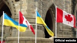 Canada -- Ukrainian and Canadian flags
