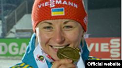 Валя Семеренко, українська біатлоністка (фото з сайту Федерації біатлону України)