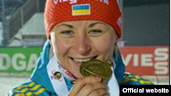 Валя Семеренко, чемпіонка світу 2015 року, фото з офіційного сайту Федерації біатлону України