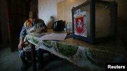 Выездное голосование в рамках «крымского референдума» в селе Пионерское, 16 марта 2014 года