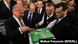 Slavlje u izbornom štabu SDA, 7. oktobar 2012.