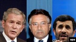 تنها ۲۳ درصد مردم خارج از ايالات متحده «کمی تا حدودی» به جرج بوش، ۲۲ درصد به محمود احمدی نژاد و ۱۸ درصد به پرويز مشرف اعتماد دارند.