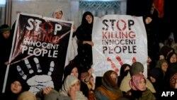 Protestat e shiitëve kundër dhunë sektare në Pakistan.