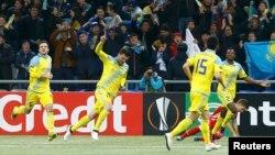 Игроки казахстанского футбольного клуба «Астана».