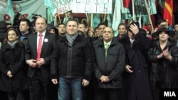 Предизборен митинг на ВМРО-ДПМНЕ во Гостивар. Избори 2013.