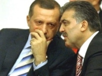 Prime Minister Erdogan and Foreign Minister Gul during the presidential vote in parliament (AFP)