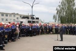 """Сустрэча Алякснадра Лукашэнкі з рабочымі прадпрыемства """"Гродна Азот"""" е"""