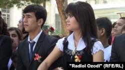 Tajikistan,Dushanbe city, Last Ring ceremony at Tajikistan schools,7June2013