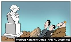 'Slobodan Milošević je, zapravo, čovjek koga je u umjetnosti daleko najuspješnije, potpuno virtuozno, artikulirao Koraks. Treba samo pogledati kako je Koraks nacrtao Miloševića.'