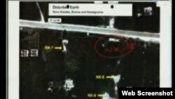 Snimka jedne od grobnica prikazana u sudnici, 2. rujan 2013.