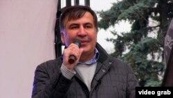 Mihail Saakașvili la Kiev la 29 octombrie 2017