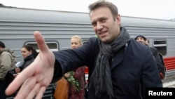 Opposition leader Aleksei Navalny (file photo)