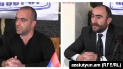 Armenia - Karabakh war veterans Armen Lambarian and Pavel Muradian, 23 February, 2015