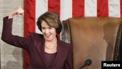 Nancy Pelosi neposredno nakon preuzimanja dužnosti u Kongresu SAD-a, 04.januar 2007.