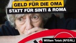 Afiș de propagandă anti-Roma la Berlin