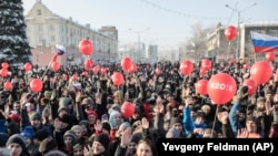 Протестная акция сторонников Алексея Навального в Новокузнецке (архивное фото)