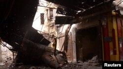 Алеппонун талкаланган көчөлөрү