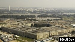 Aerial view of the building of Pentagon, U.S. Department of Defense.
