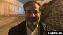 مهدی محمودیان پس از آزادی از زندان در روز یکشنبه