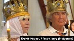 Валентина Легкоступова и Юрий Фирсов, венчание в деревне Грушевка под Судаком, 15 июля 2020 года