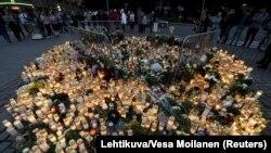 În Piața de laTurku, la locul atentatului