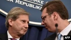 Johanes Han i Aleksandar Vučić