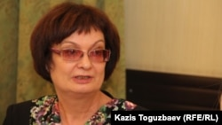 «Наша газетаның» бас редакторы Ольга Колоколова. Алматы, 28 қараша 2016 жыл.