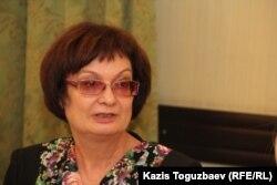 Главный редактор еженедельника «Наша газета» Ольга Колоколова. Алматы, 28 ноября 2016 года.