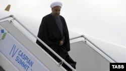 Ռուսաստան - Իրանի նախագահ Հասան Ռոհանին ժամանում է Աստրախան, 29-ը սեպտեմբերի, 2014թ․