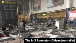 Жарылыстан бүлінген әуежай. Брюссель, 22 наурыз 2016 жыл.