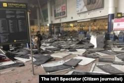 Всередині аеропорту Брюсселя після вибуху