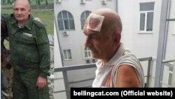 Зліва: фотографія Володимира Цемаха біля Савур-Могили від 27 травня 2018 року. Праворуч: Володимир Цемах після арешту