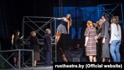 З рэпэтыцыі спэктакля «Час сэканд-хэнд» у Нацыянальным акадэмічным драматычным тэатры імя Горкага