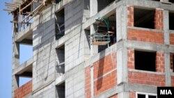 Градежни работници. Архивска фотографија.