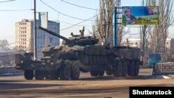 Donetskdə separatçılara məxsus tank