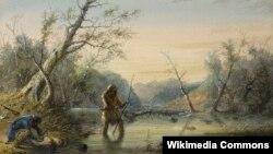 Альфрэд Джэйкаб Мілер, «Сіло на бабра» (1860)