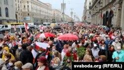 «Марш пенсионеров». Минск, 12 октября 2020 года.