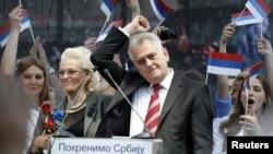Tomislav Nikolić na predizbornom skupu