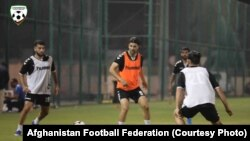 آرشیف، تیم ملی فوتبال افغانستان در حال تمرین در دوحه مرکز قطر September 05 2019
