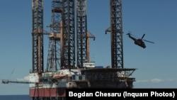 Platforma de foraj Gloria, din Marea Neagră.