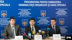 Conferință de presă șa procuratua pentru combaterea criminalităţii organizate, 2 februarie Chișinău.