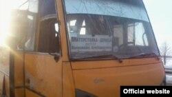 Автобус неподалік міста Волноваха, 13 січня 2015 року
