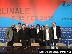 """Пресс-конференция создателей фильма """"Под электрическими облаками"""" в Берлине"""