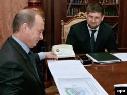Владимир Путин и Рамзан Кадыров в мае 2006 года